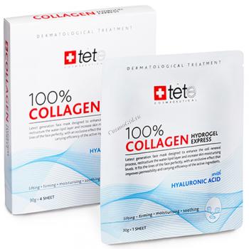 Tete Collagene Hydrogel Mask 100% (Гидроколлагеновая маска моментального действия), 4 саше - купить, цена со скидкой