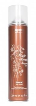 Kapous Лак аэрозольный для волос нормальной фиксации с кератином серии «Magic keratin», 250 мл. - купить, цена со скидкой