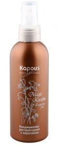 Kapous   Кондиционер-реструктурант с кератином серии «Magic keratin», 200 мл. - купить, цена со скидкой