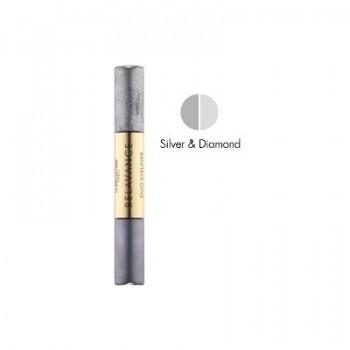 LA BIOSTHETIQUE MAKE-UP DUO LINER SILVER & DIAMOND Двухцветная жидкая подводка для глаз 2*3мл - купить, цена со скидкой