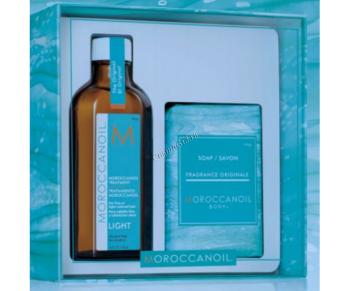 Moroccanoil Набор «Home & Away» Light (Восстанавливающее средство + Мыло), 2 средства - купить, цена со скидкой