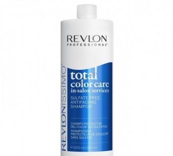 Revlon Professional total color care sulfate free antifading shampoo (Шампунь анти-вымывание цвета без сульфатов), 1000 мл  - купить, цена со скидкой