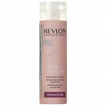 Revlon Professional interactives keratin shampoo (Восстанавливающий шампунь с кератином) - купить, цена со скидкой