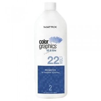 Matrix Colorgraphics lift and tone promoter 22 Vol (Промоутер для максимального осветления 6,6%),946 мл. - купить, цена со скидкой