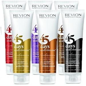 Revlon / Revlonissimo 45 days Color Care 2 in 1, оттеночный шампунь-кондиционер без сульфатов, 275 мл. - купить, цена со скидкой
