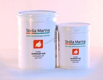 Stella Marina Скраб для тела на основе морской соли охлаждающий «Зеленый чай» - купить, цена со скидкой