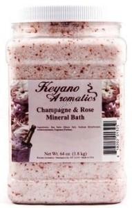 Keyano Aromatics Champagne and Rose Mineral Bath (Соль для ванны «Шампанское и розы»), 1.9л. - купить, цена со скидкой