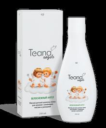 Teana /Мягкий детский шампунь-пенка для купания с оливковым маслом и ромашкой/ «Белоснежный ангел», 250 мл - купить, цена со скидкой