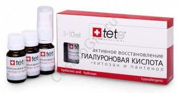 Tete Cosmeceutical Гиалуроновая кислота + хитозан и пантенол, 3*10 мл - купить, цена со скидкой