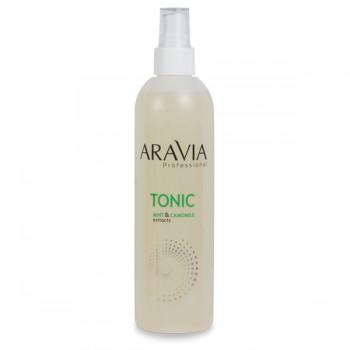 Aravia Тоник для очищения и увлажнения кожи с мятой и ромашкой, 300 мл. - купить, цена со скидкой