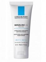 LA ROCHE-POSAY РОЗАЛИАК UV РИШ фл. Увлажняющее средство для сухой и очень сухой кожи, склонной к покраснениям 40 мл - купить, цена со скидкой