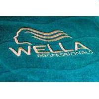 Wella / Полотенце черное с вышитым логотипом Wella, 50х100 см. - купить, цена со скидкой