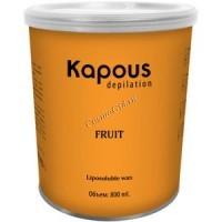 Kapous Жирорастворимый воск с ароматом дыни в банке, 800мл. - купить, цена со скидкой