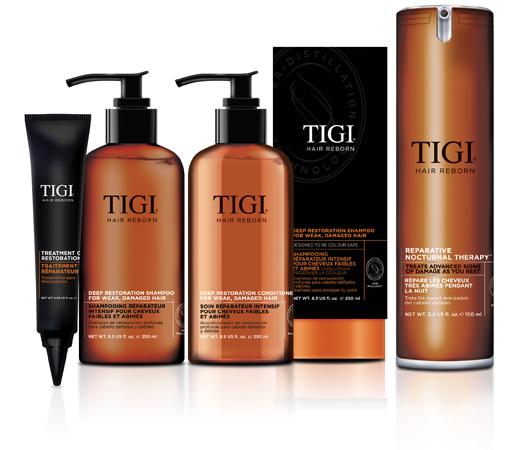 Logotip Tigi REBORN deep restoration internet magazin CosmoGid